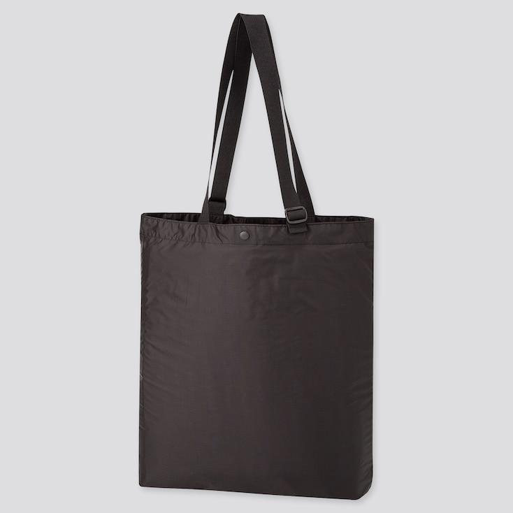 Lightweight Pocketable Tote Bag, Black, Large