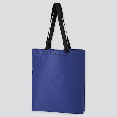 Lightweight Pocketable Tote Bag, Blue, Medium