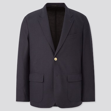 Men Comfort Blazer, Navy, Medium