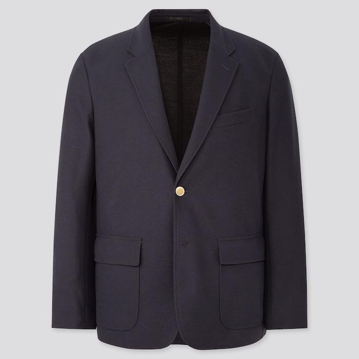 Men Comfort Blazer, Navy, Large