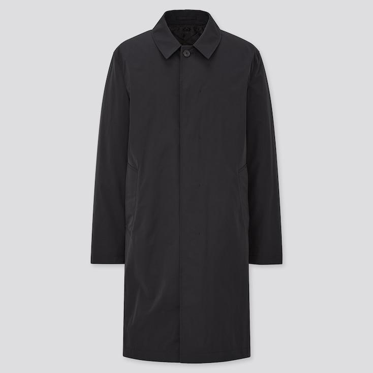 Men 2-Way Single Breasted Coat, Black, Large