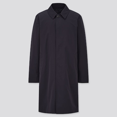 Men 2-Way Single Breasted Coat, Navy, Medium