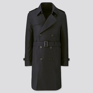 Men Trench Coat, Navy, Medium