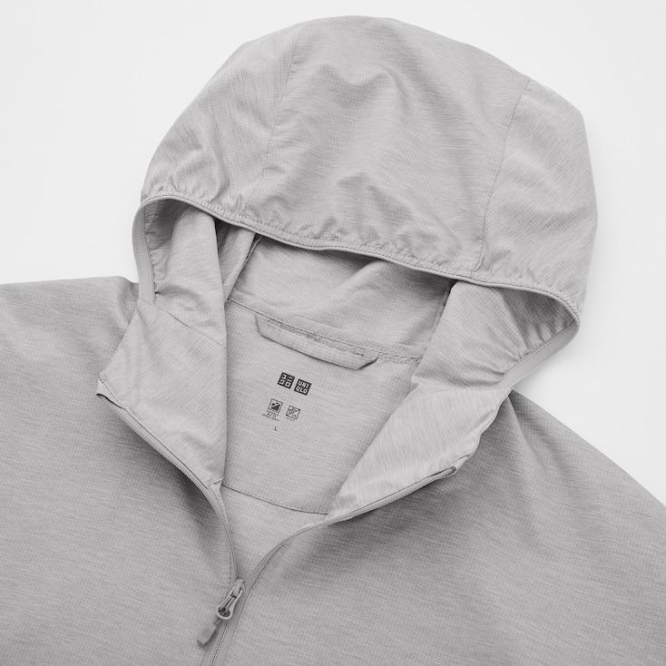 Men Pocketable Uv Protection Parka, Navy, Large