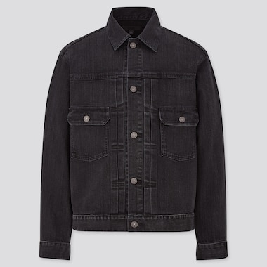 Denim Jacket, Dark Gray, Medium