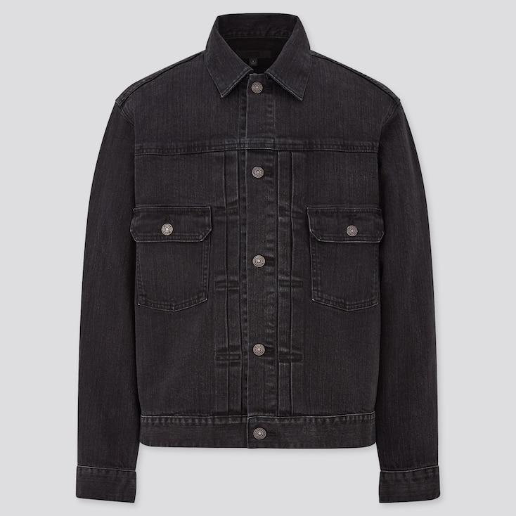 Denim Jacket,                                                                                                                                             Dark Gray, Large