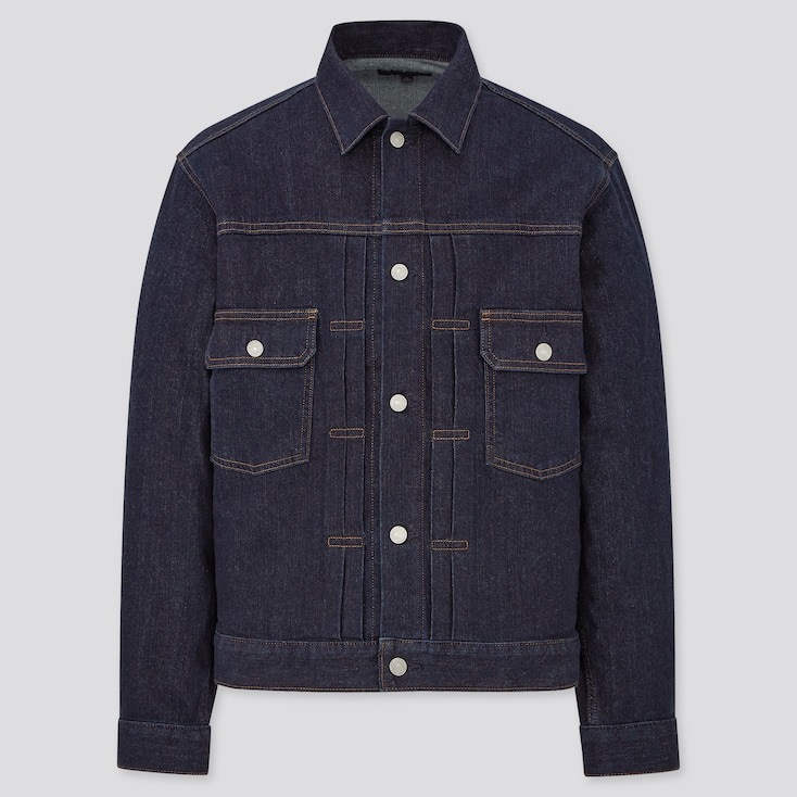 Men's Vintage Workwear Inspired Clothing MEN DENIM JACKET $39.90 AT vintagedancer.com