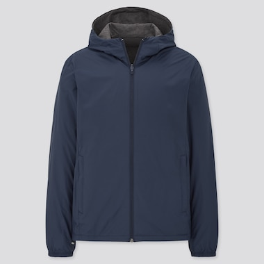 Men Reversible Parka, Navy, Medium