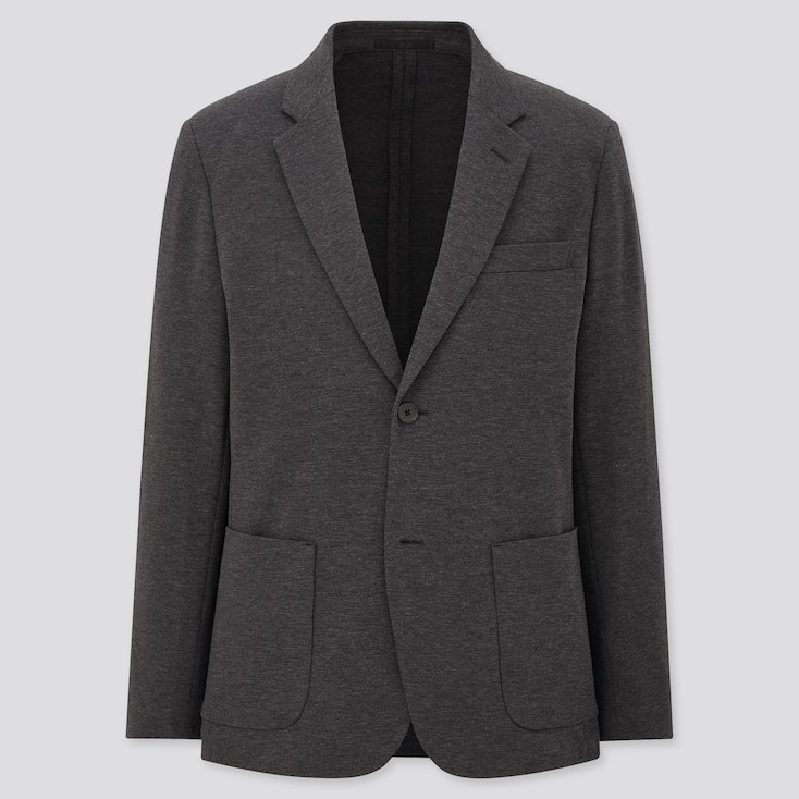 Men Comfort Jacket, Dark Gray, Large
