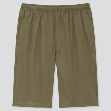 Men Light Cotton Easy Shorts (Online Exclusive), Olive, Medium
