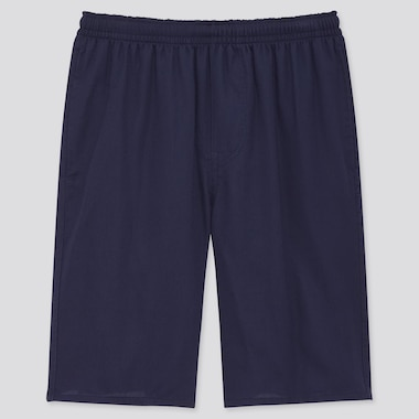 Men Light Cotton Easy Shorts (Online Exclusive), Navy, Medium