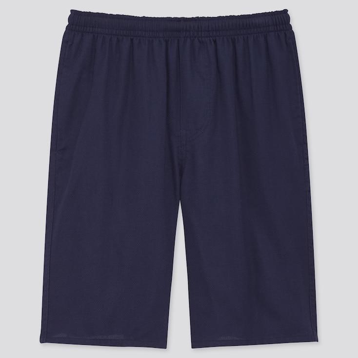 Men Light Cotton Easy Shorts (Online Exclusive), Navy, Large