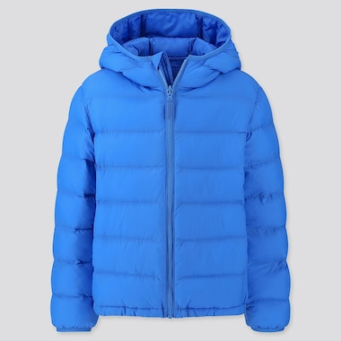 KIDS LIGHT WARM PADDED PARKA, BLUE, medium