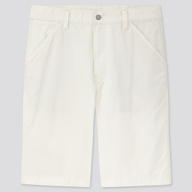 Men Wide-Fit Work Shorts, Off White, Medium