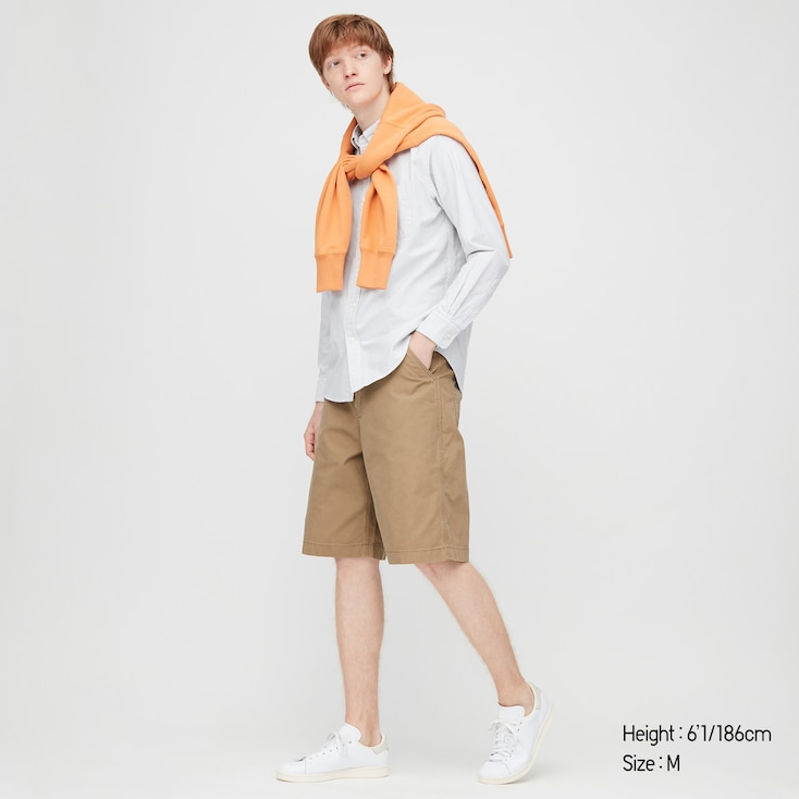 Men Wide-Fit Work Shorts (Online Exclusive), Brown, Large