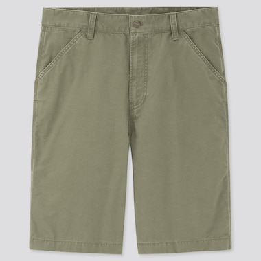 Men Wide-Fit Work Shorts, Olive, Medium