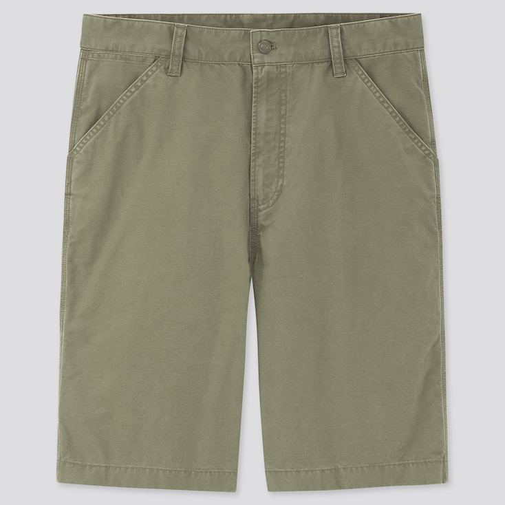Men Wide-Fit Work Shorts (Online Exclusive), Olive, Large