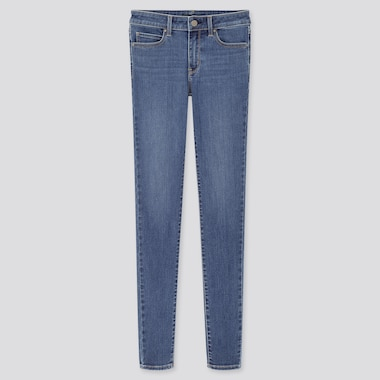 Women Ultra Stretch Mid Rise Skinny Fit Jeans