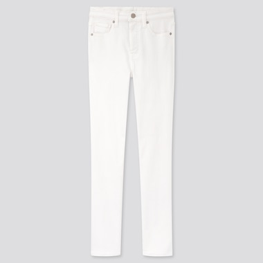 WOMEN HIGH RISE SKINNY ANKLE JEANS (SCULPTING), WHITE, medium