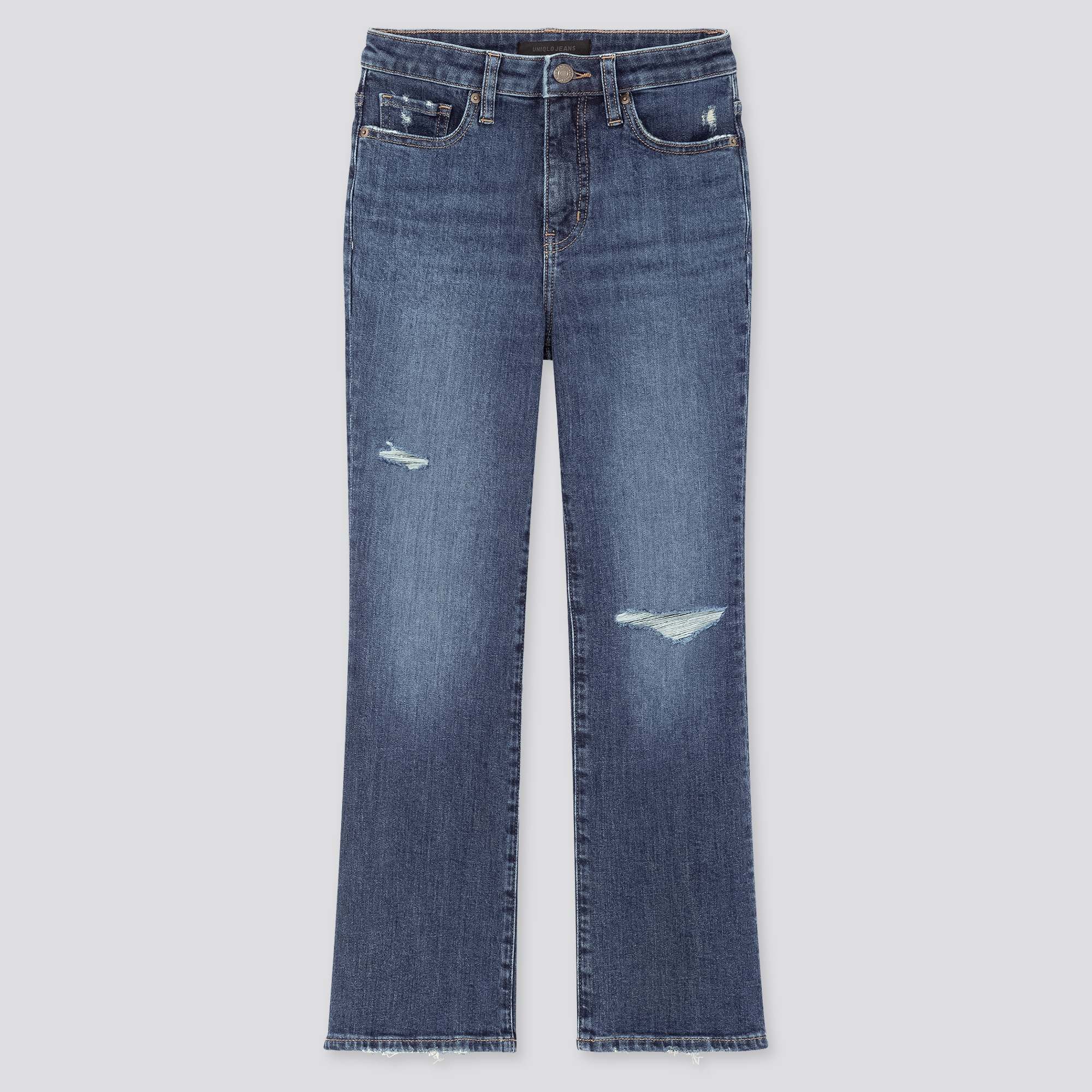 WOMEN HIGH-RISE SKINNY FLARE ANKLE JEANS