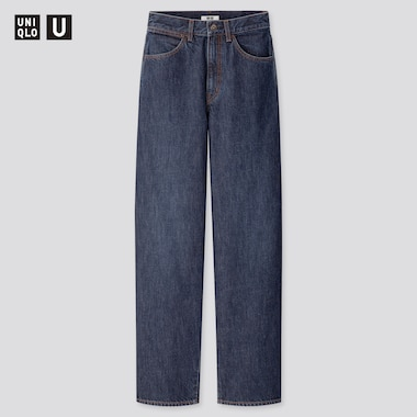 Women Uniqlo U High Rise Wide Fit Curved Jeans