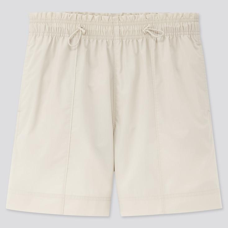Women Parachute Nylon Shorts, Natural, Large