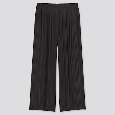 Women Chiffon Pleated Skirt Trousers