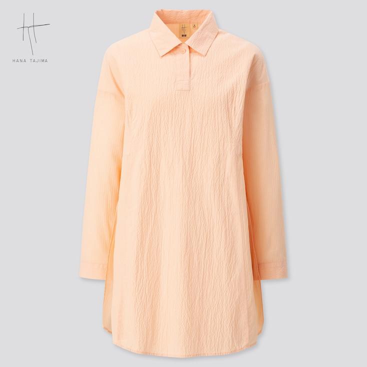 Women Combination Oversized Long-Sleeve Tunic (Hana Tajima) (Online Exclusive), Pink, Large