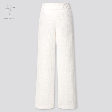 Women Hana Tajima Cotton Dobby Wide Leg Trousers