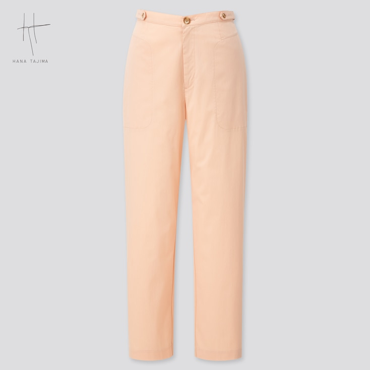 Women Tapered Ankle Pants (Hana Tajima) (Online Exclusive), Pink, Large