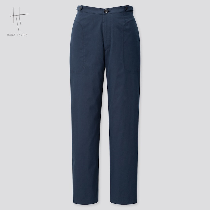 Women Tapered Ankle Pants (Hana Tajima) (Online Exclusive), Navy, Large