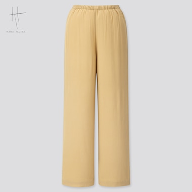 Women Rayon Wide Ankle Pants (Hana Tajima) (Online Exclusive), Beige, Medium