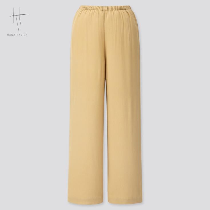 Women Rayon Wide Ankle Pants (Hana Tajima) (Online Exclusive), Beige, Large