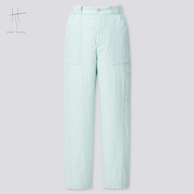 Women Hana Tajima Seersucker Tapered Ankle Length Trousers