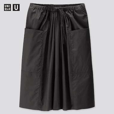 Women Uniqlo U Gathered Skirt