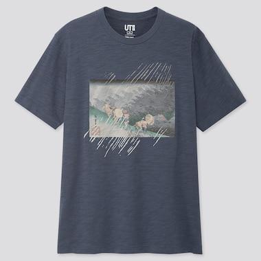 Herren UT bedrucktes T-Shirt Edo Ukiyo-E