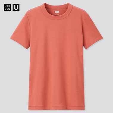 Women U Crew Neck Short-Sleeve T-Shirt, Orange, Medium