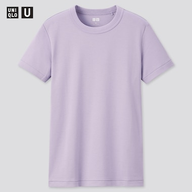 Women U Crew Neck Short-Sleeve T-Shirt, Purple, Medium