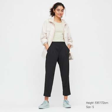Women Crepe Jersey Tapered Trousers