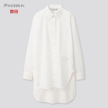 Women Long-Sleeve Long Shirt (Jw Anderson), Off White, Medium