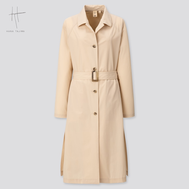 Women Coat (Hana Tajima) (Online Exclusive), Beige, Large