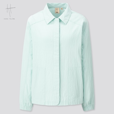 Women Seersucker Jacket (Hana Tajima) (Online Exclusive), Light Blue, Medium
