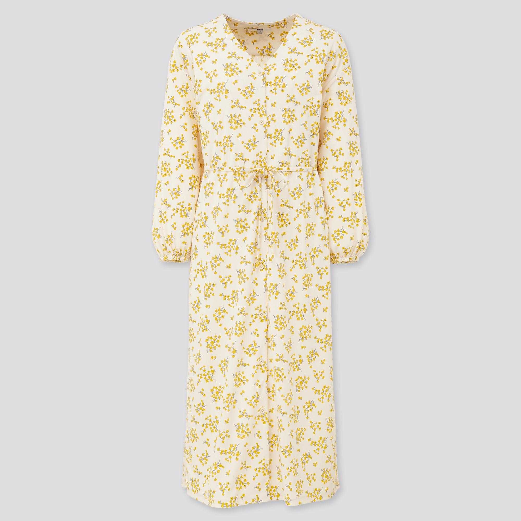 Women Joy Of Print Crepe Jersey Long Sleeved Dress