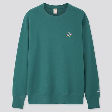 DISNEY STORIES LONG-SLEEVE SWEATSHIRT, GREEN, medium
