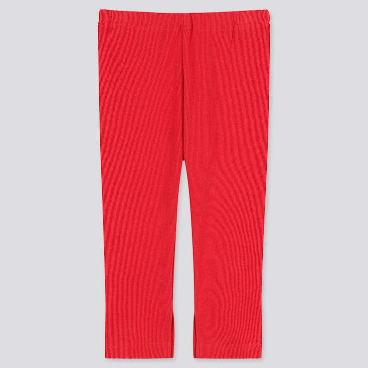 Baby Ankle-Length Leggings, Red, Large