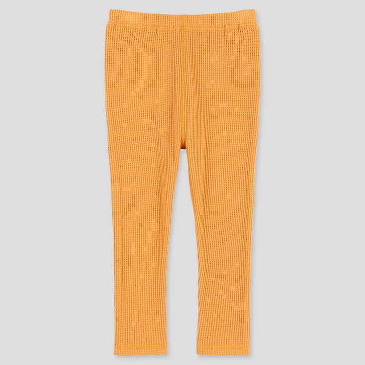 Baby Full-Length Leggings, Orange, Large