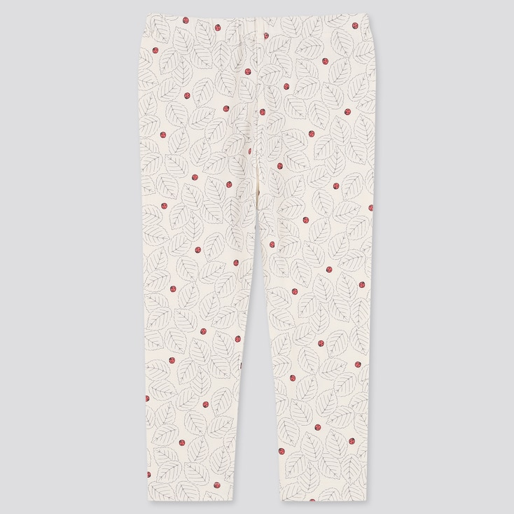 Toddler Leggings, Off White, Large