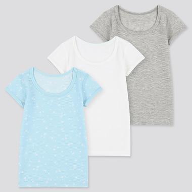 Toddler Cotton Mesh Short-Sleeve T-Shirt (Set Of 3), Blue, Medium
