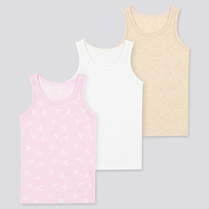 Toddler Cotton Mesh Tank Top (Set Of 3), Pink, Large