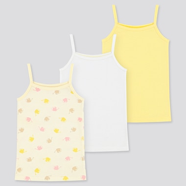 Toddler Cotton Mesh Camisole (Set Of 3) (Online Exclusive), Cream, Medium